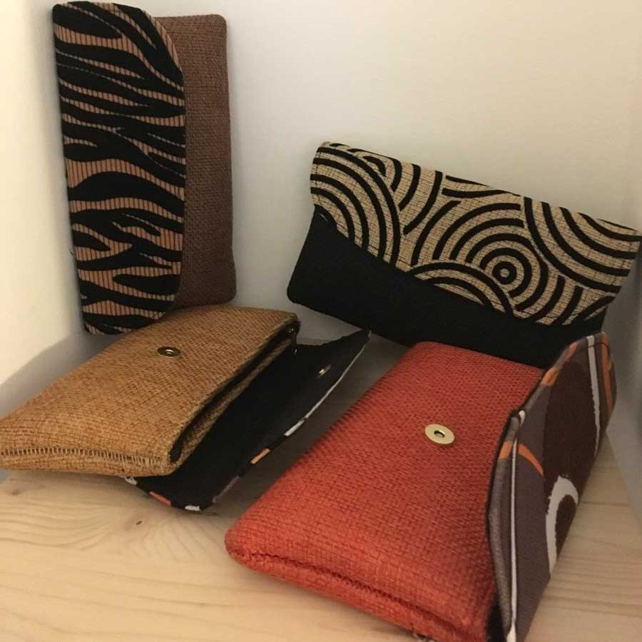 Kenya Jute wallets