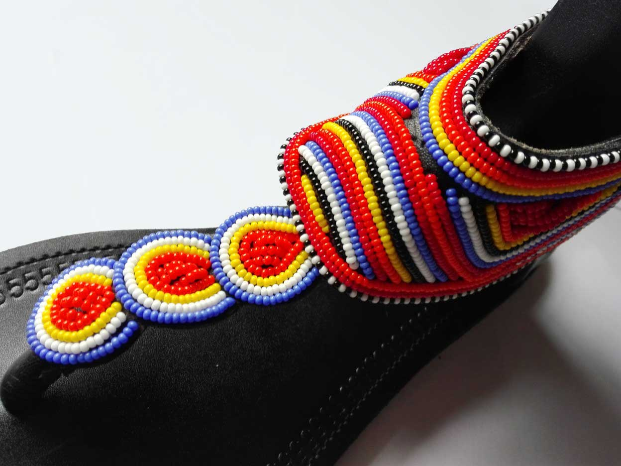 Leather and Bead Sandals Kenya