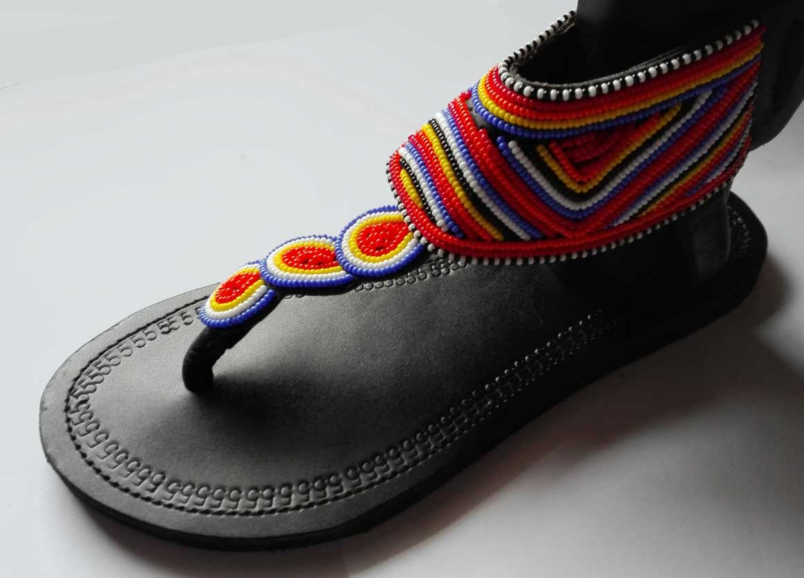 Leather and Bead Sandals Africa