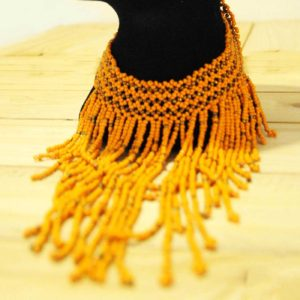 Orange african necklace
