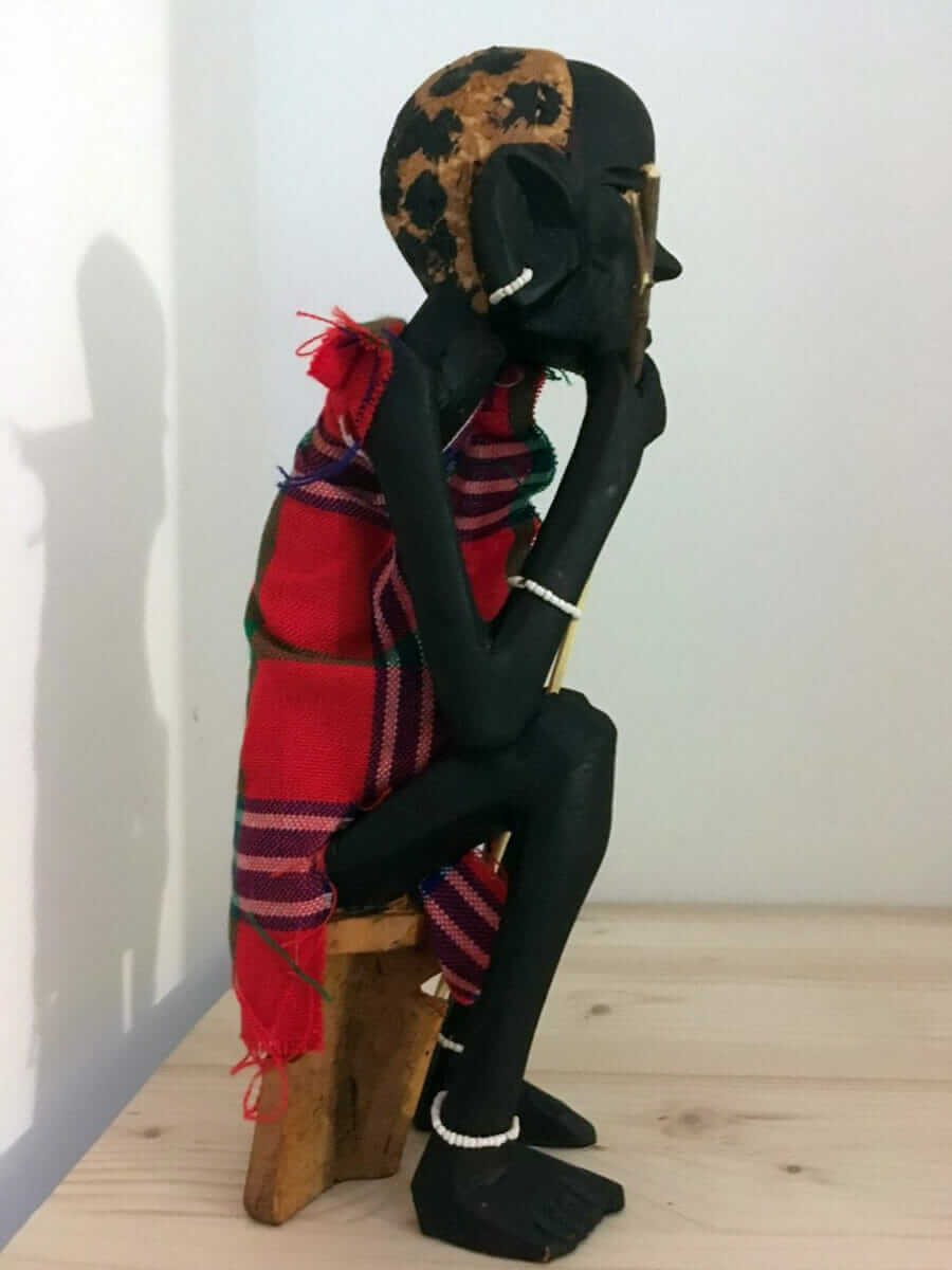 Large Masai Statue made in Kenya