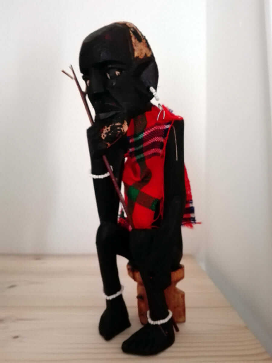 Small Masai Statue made in Kenya