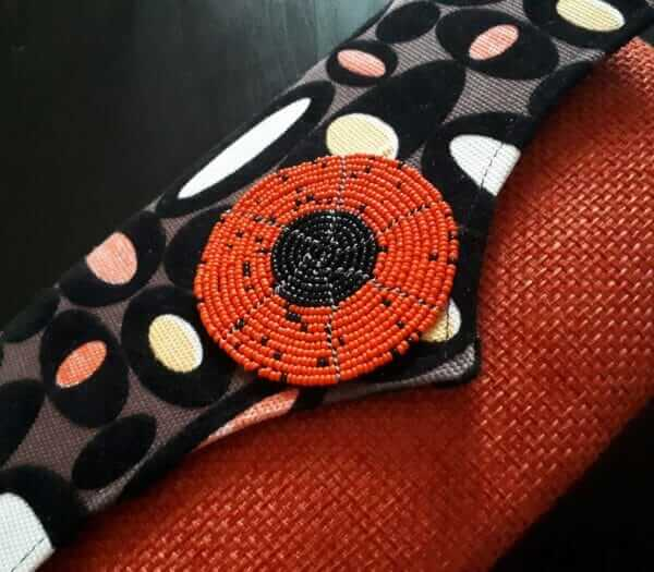 Orange Clutch Bag Africa